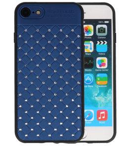 Blauw Diamand Geweven hard case hoesje voor Apple iPhone 7 / 8