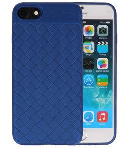 Blauw Geweven TPU case hoesje voor Apple iPhone 7 / 8