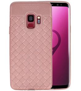 Roze Geweven TPU case hoesje voor Samsung Galaxy S9