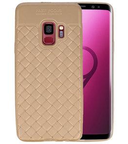 Goud Geweven TPU case hoesje voor Samsung Galaxy S9