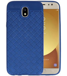 Blauw Geweven TPU case hoesje voor Samsung Galaxy J5 2017