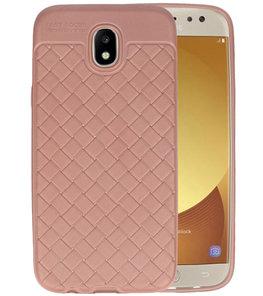 Roze Geweven TPU case hoesje voor Samsung Galaxy J5 2017