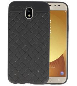 Zwart Geweven TPU case hoesje voor Samsung Galaxy J5 2017
