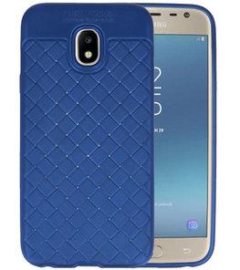 Blauw Geweven TPU case hoesje voor Samsung Galaxy J3 2017