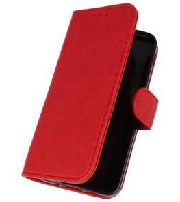 Rood booktype wallet case Hoesje voor Samsung Galaxy J3 2018