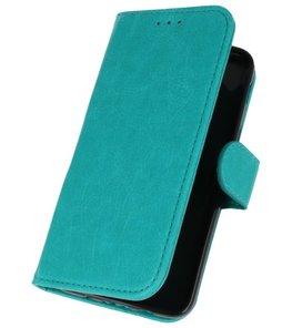 Groen booktype wallet case Hoesje voor Samsung Galaxy J3 2018