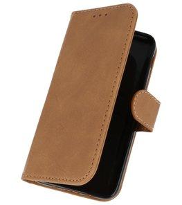 Bruin booktype wallet case Hoesje voor Samsung Galaxy J3 2018