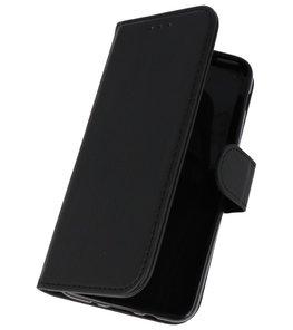 Zwart booktype wallet case Hoesje voor Samsung Galaxy J3 2018