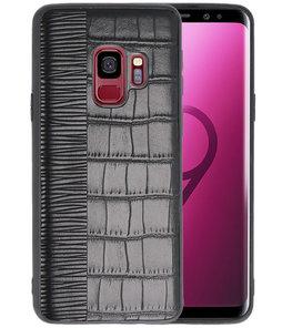Croco Zwart hard case hoesje voor Samsung Galaxy S9