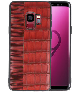 Croco Rood hard case hoesje voor Samsung Galaxy S9