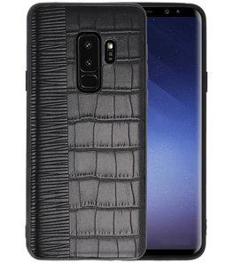 Croco Zwart hard case hoesje voor Samsung Galaxy S9 Plus