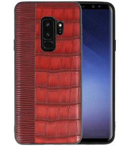 Croco Rood hard case hoesje voor Samsung Galaxy S9 Plus