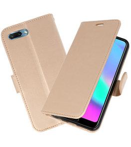 Goud Wallet Case Hoesje voor Huawei Honor 10