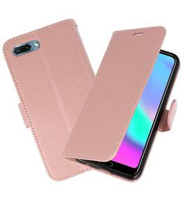 Roze Wallet Case Hoesje voor Huawei Honor 10