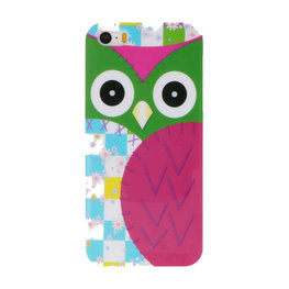 Paars Uil Hard case cover hoesje voor Apple iPhone 5/5s/SE