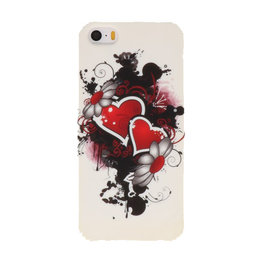 Twee Harten Hard case cover hoesje voor Apple iPhone 5/5s/SE