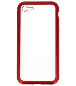 Rood Transparant Magnetisch Back Cover Hoesje voor Apple iPhone 7 / 8