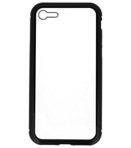 Zwart Transparant Magnetisch Back Cover Hoesje voor Apple iPhone 7 / 8
