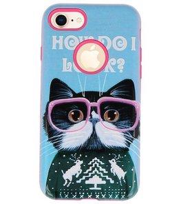 I Look 3D Print Hard Case voor Apple iPhone 7 / 8