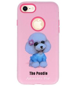 The Poodle 3D Print Hard Case voor Apple iPhone 7 / 8
