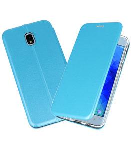 Blauw Premium Folio Booktype Hoesje voor Samsung Galaxy J32018