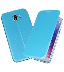 Blauw Premium Folio Booktype Hoesje voor Samsung Galaxy J42018
