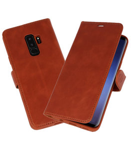 Bruin Rico Vitello Echt Leren Bookstyle Wallet Hoesje voor Samsung Galaxy S9Plus