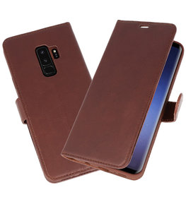 Mocca Rico Vitello Echt Leren Bookstyle Wallet Hoesje voor Samsung Galaxy S9Plus