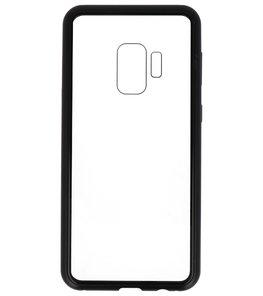 Zwart Transparant Magnetisch Back Cover Hoesje voor Samsung Galaxy S9