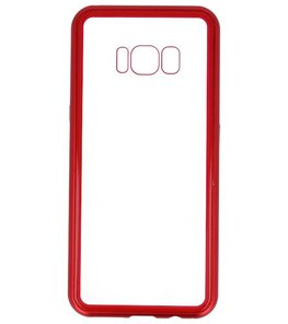 Rood Transparant Magnetisch Back Cover Hoesje voor Samsung Galaxy S8