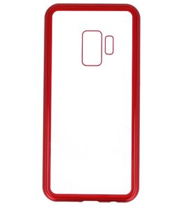 Rood Transparant Magnetisch Back Cover Hoesje voor Samsung Galaxy S9