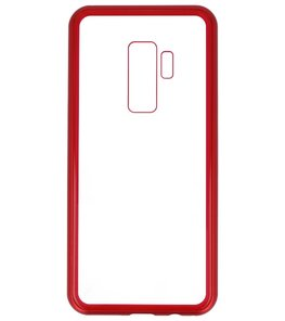 Rood Transparant Magnetisch Back Cover Hoesje voor Samsung Galaxy S9 Plus