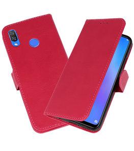 Roze Bookstyle Wallet Cases Hoesje voor Huawei P Smart Plus