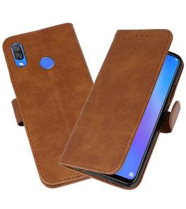 Bruin Bookstyle Wallet Cases Hoesje voor Huawei P Smart Plus