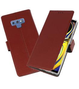 Bruin Wallet Cases Hoesje voor Samsung Galaxy Note 9