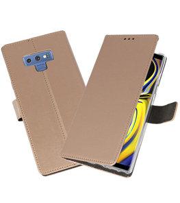 Goud Wallet Cases Hoesje voor Samsung Galaxy Note 9