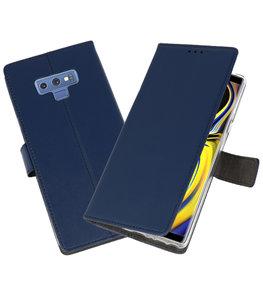 Navy Wallet Cases Hoesje voor Samsung Galaxy Note 9