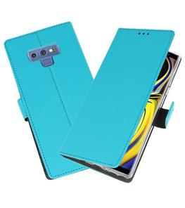 Blauw Wallet Cases Hoesje voor Samsung Galaxy Note 9