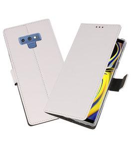 Wit Wallet Cases Hoesje voor Samsung Galaxy Note 9