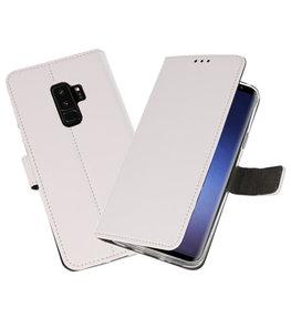 Wit Bookstyle Wallet Cases Hoesje voor Samsung Galaxy S9 Plus