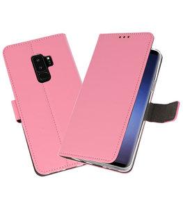 Roze Wallet Cases Hoesje voor Samsung Galaxy S9 Plus