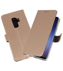Goud Wallet Cases Hoesje voor Samsung Galaxy S9 Plus