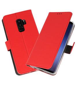 Rood Wallet Cases Hoesje voor Samsung Galaxy S9 Plus
