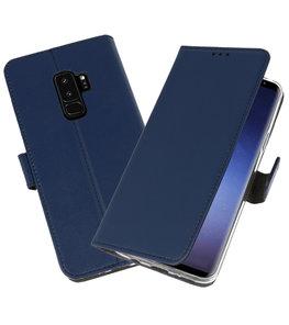 Navy Wallet Cases Hoesje voor Samsung Galaxy S9 Plus