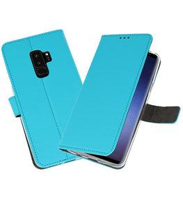 Blauw Wallet Cases Hoesje voor Samsung Galaxy S9 Plus