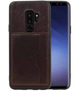 Mocca Staand Back Cover 1 Pasje Hoesje voor Samsung Galaxy S9 Plus