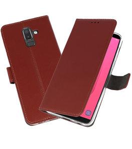 Bruin Wallet Cases Hoesje voor Samsung Galaxy J8