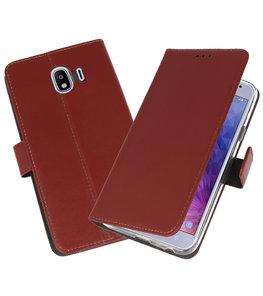 Bruin Wallet Cases Hoesje voor Samsung Galaxy J4 2018