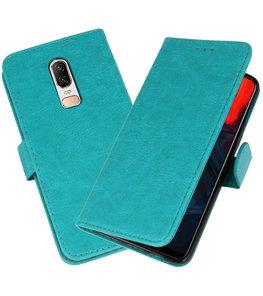 Groen Bookstyle Wallet Cases Hoesje voor OnePlus 6