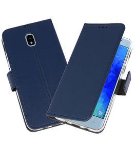 Navy Wallet Cases Hoesje voor Samsung Galaxy J3 2018